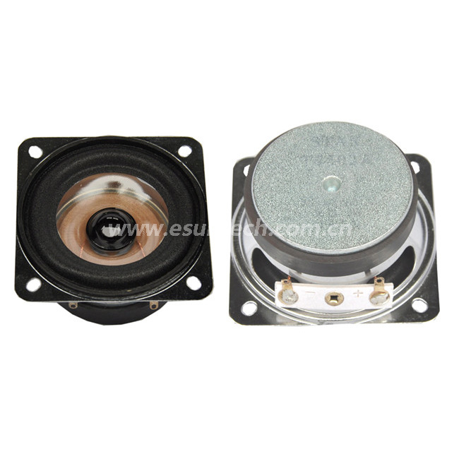 Loudspeaker YD66-13-8F53UM-R 66*66mm Square Mylar Audio Speaker Waterproof Speaker Unit-ESUTECH