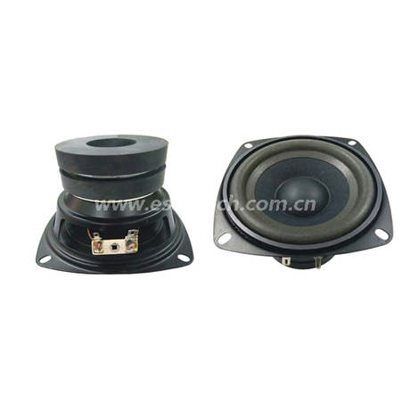 Loudspeaker 104mm YD104-12-4F70P-R Min Full Range Woofer Speaker Drivers-ESUNTECH